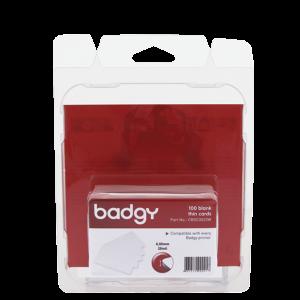 "KIT BADGY TARJETAS PVC BLANCO .020"" (100 Tarjetas blancas de PVC 20 mil.)"