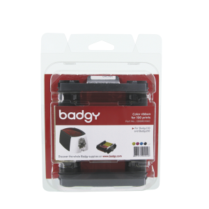 KIT BADGY RIBBON YMCKO 100 IMP